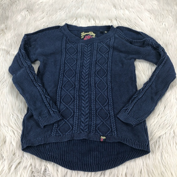 Superdry Sweaters - Superdry Cold Shoulder Cable-Knit Pullover Sweater